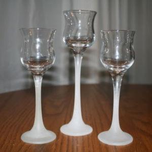 Partylite Crystal Trio Votive Candle Holder set